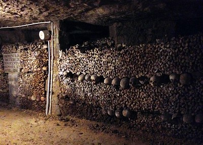 Visiting the Catacombs of Paris, France