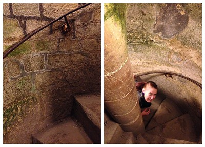 Climbing the Damp, Slippery Stairs Out of the Catacombs of Paris