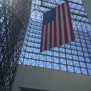 Flag in the JFK Presidential Library