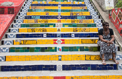 Selaron steps.  These were made by one guy.