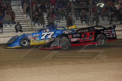 Jordan Yaggy (77) and Austin Kirkpatrick (11)