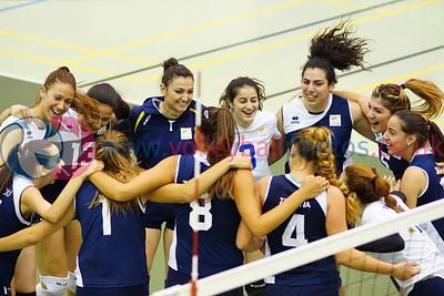 LIE 0 v 3 CYP (18, 14, 21), 2015 Women's CEV European Championship Finals (Small Countries Division), Gemeindeschulen, Schaan, Liechtenstein, Sun 17th May 2015.