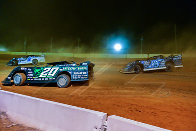 Jimmy Owens (20), Jared Landers (777), and Scott Bloomquist (0)