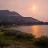 Low sun over Green Lake