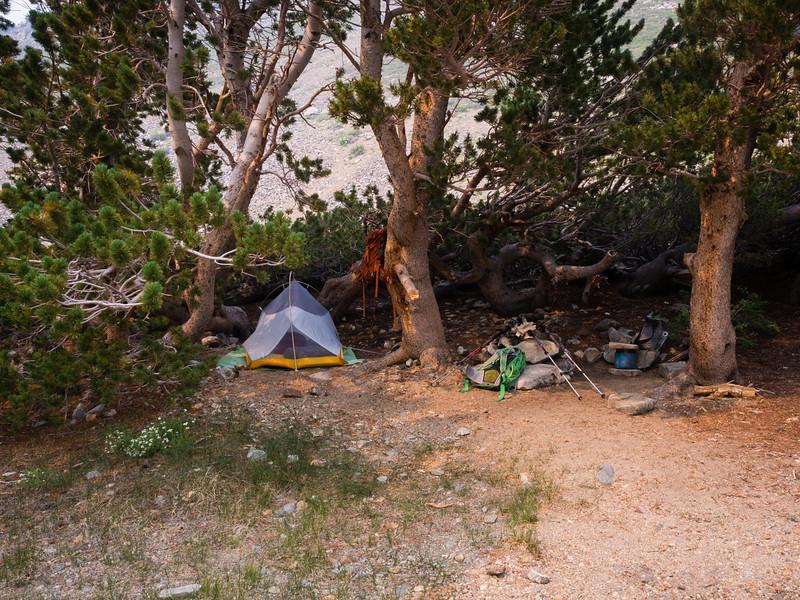 Camp by Green Lake