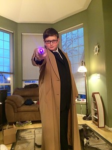 Noah's Doctor Who costume is ready for Comicon