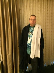 Arthur Dent ready for Comicon