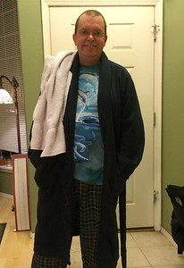 Dad's Arthur Dent costume is ready