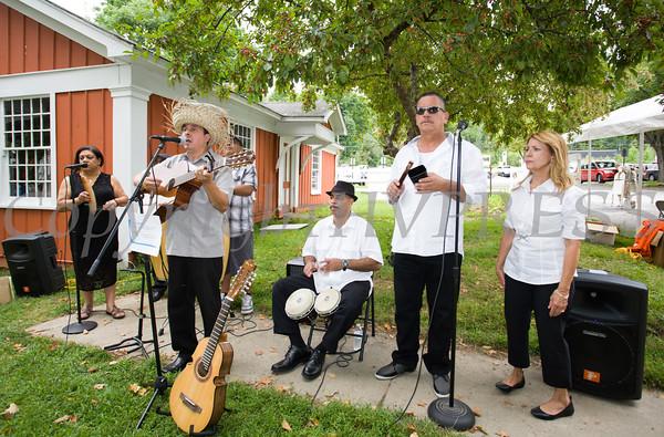 Los Caribenos provided musical entertainment during Fiesta Latina held at Museum Village in Monroe, NY on Saturday, September 12, 2015. Hudson Press/CHUCK STEWART, JR.