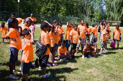 Youth from the Boys & Girls Club of Newburgh gather for TEAM Newburgh's seventh annual fishing trip to Lake Washington on Thursday, July 23, 2015. Hudson Valley Press/CHUCK STEWART, JR.