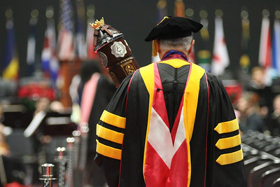 Dr. Tom Jones is the University Mace Bearer. Photo by Megan Hartman