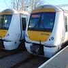 National Express c2c Class 357 Electrostars nos. 357034 and 357217 at Shoeburyness.