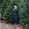 JOED VIERA/STAFF PHOTOGRAPHER Wilson, NY-Rachel Fuerschbach picks out the US&J's Chrstmas tree at Erways Christmas tree Adventure.