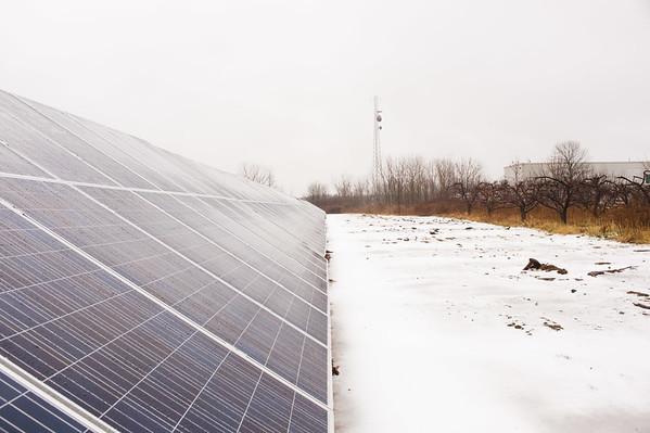 JOED VIERA/STAFF PHOTOGRAPHER Burt, NY-A new solar farm is being built on Transit Road