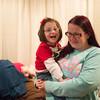 JOED VIERA/STAFF PHOTOGRAPHER Lockport, NY-Bridgett Maskell holds up Anna Belle Maskell.