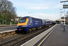 """28 December 2015 :: 43023 """"Sqn Ldr Harold Starr"""" is at the rear of 1Y78, the 0645 Penzance to Waterloo as the train pulls away from Basingstoke"""