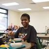 JOED VIERA/STAFF PHOTOGRAPHER Lockport, NY-Ayesha Rountree enjoys a meal at the Sister Mary Loretto Soup Kitchen.