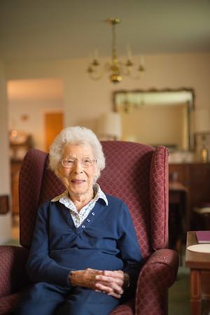 JOED VIERA/STAFF PHOTOGRAPHER Lockport, NY-Peg Smith celebrates her 101st birthday this week.