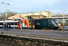28 December 2015 :: 43187 is seen at Basingstoke Station next to  South West Trains 444 006 and a gallery of photographers.  The trains are 1Y75, the 0549 Plymouth to Waterloo and 1W50, the 0837 from Brockenhurst to Waterloo