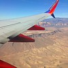 A Desert Landscape, as Seen From the Wing of a Southwest Airplane