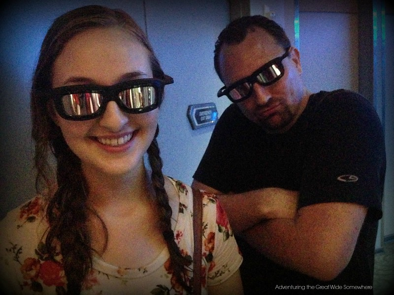 Dan and Michelle in Their Star Tours 3D Glasses at Walt Disney World