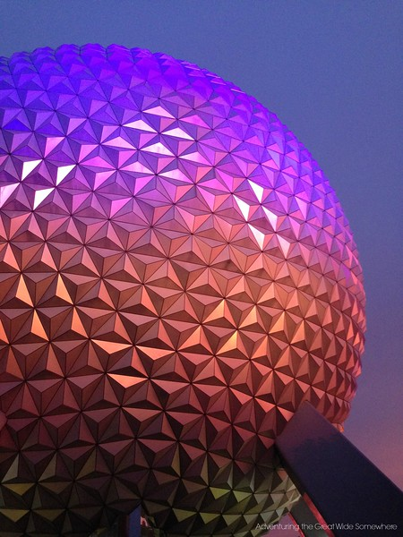 Spaceship Earth at Night, Epcot