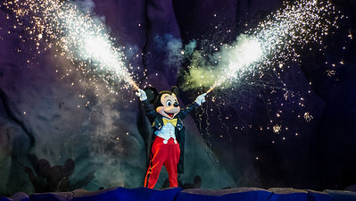 Mickey Mouse at Fantasmic at Disney's Hollywood Studios