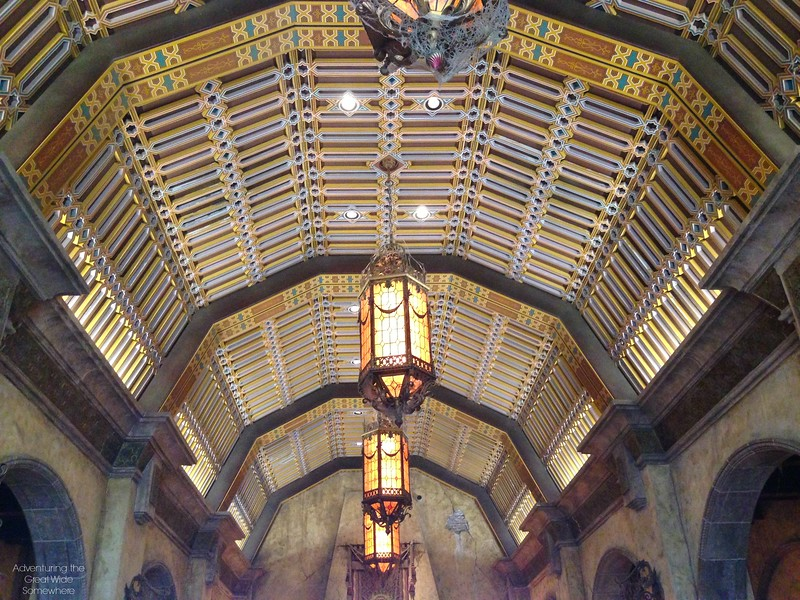 Hollywood Tower Hotel Lobby Ceiling