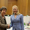 Ms Kathy Riklin, Chair, Committee of Members of Parliament of the EFTA Countries; and Ms Aurelia Frick, Minister of Foreign Affairs, Liechtenstein.