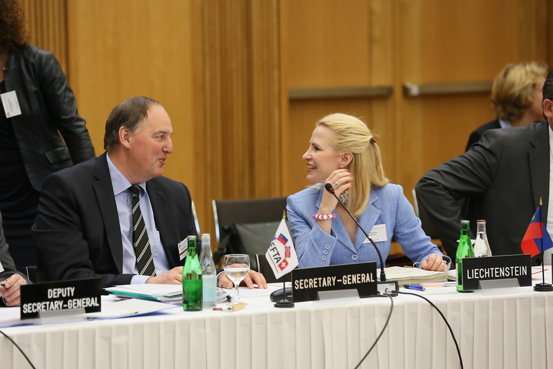 Mr Kristinn F. Árnason, Secretary-General, EFTA; and Ms Aurelia Frick, Minister of Foreign Affairs, Liechtenstein.
