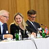 From left: Mr Harald Neple, Ambassador, Permanent Representative,<br /> Permanent Mission of Norway, Geneva, Ms Dilek Ayhan, State Secretary, Ministry of Trade and Industry, Norway, and  Mr Jan Farberg, Director General, Ministry of Trade, Industry and Fisheries, Norway.