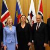 From left: Mr Gunnar Bragi Sveinsson, Minister for Foreign Affairs and External Trade, Iceland; Ms Aurelia Frick, Minister of Foreign Affairs, Liechtenstein; Ms Dilek Ayhan, State Secretary, Ministry of Trade and Industry, Norway; Mr Johann N. Schneider-Ammann, Federal Councillor, Head of the Federal Department of Economic Affairs, Education and Research, Switzerland; and Mr Kristinn F. Árnason, Secretary-General, EFTA.