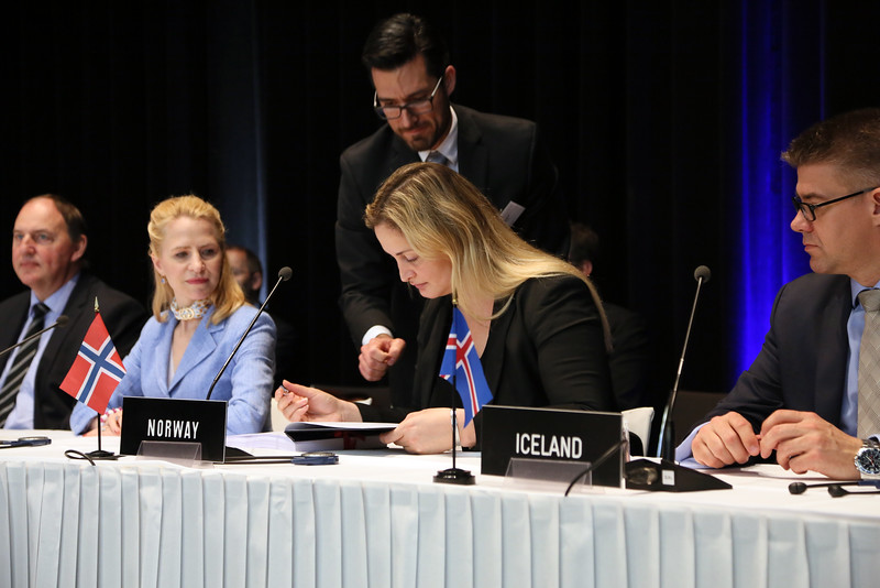 From left: Mr Kristinn F. Árnason, Secretary-General, EFTA; Ms Aurelia Frick, Minister of Foreign Affairs, Liechtenstein; Ms Dilek Ayhan, State Secretary, Ministry of Trade and Industry, Norway; and Mr Gunnar Bragi Sveinsson, Minister for Foreign Affairs and External Trade, Iceland.