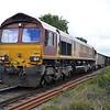 66164 1325_6xxx Eccles Road-Brigg Sidings passes Chettisham Crossing, Ely.