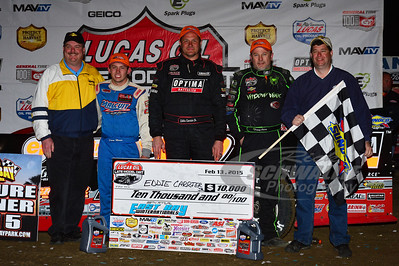Devin Moran, Eddie Carrier, Jr. and Jimmy Owens with Sunoco Representatives - Brian Bazell and Russ Bradford