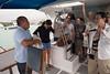 Fishing lancha captain explaining the day's itinerary