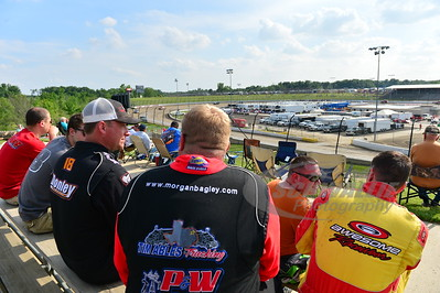 Morgan Bagley, Shannon Babb, Tim McCreadie and Jason Feger checking out track conditions