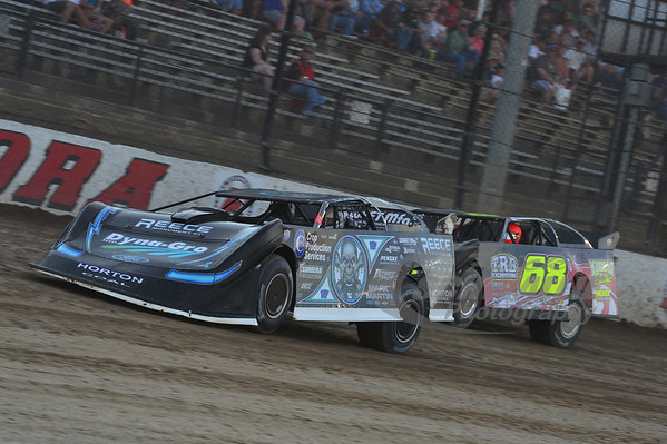 (0) Scott Bloomquist and (68) Jake O'Neal
