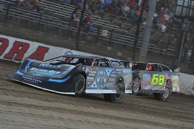 (0) Scott Bloomquist and (68) Jake O'Neal