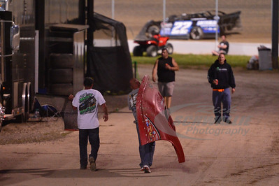 A lucky fan carries away Eddie Carrier, Jr.'s nose piece.