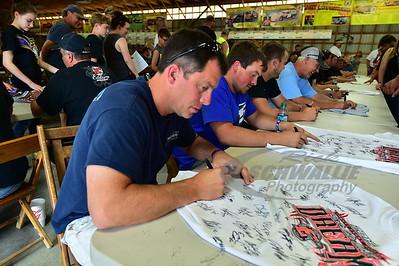 Matt Miller signs an autograph