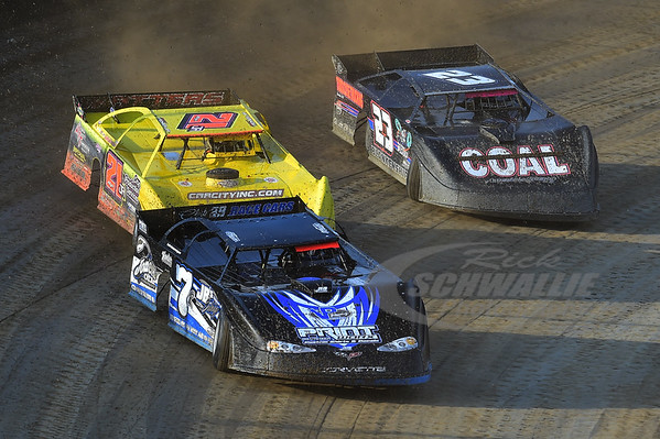 7R Kent Robinson, 21JR Billy Moyer, Jr. and 23 John Blankenship