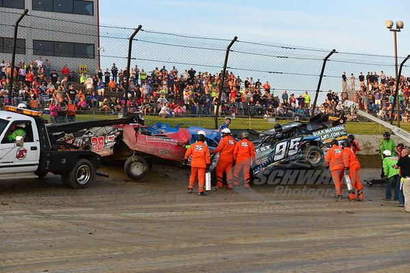 95J Jerry Bowersock, 28 Eddie Carrier, Jr. and 1 Josh Richards
