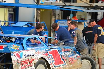 Josh Richards and crew survey the damage.