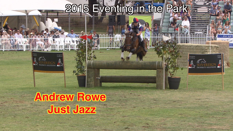 2015 Eventing in the Park D59 Andrew Rowe on Just Jazz in the Diamond Class