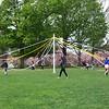 Maypole dance practice.