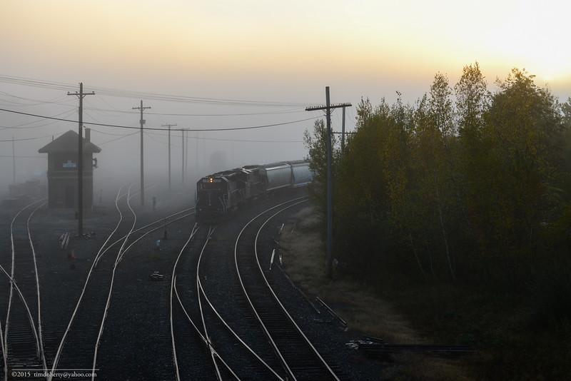 Sunrise in the fog at East Deerfield