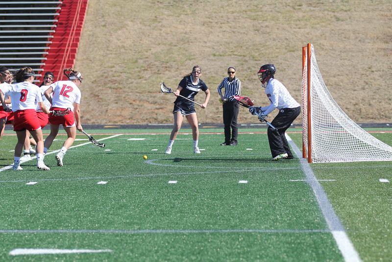 GWU defends the goal.
