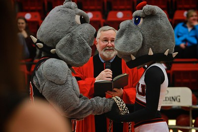 The Marriage of Mack and Lulu Bulldog; Gardner-Webb Mascots.