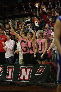 GWU's men basketball team put up a tough fight against Asheville for a 3 point loss in the last 3 seconds of the game.